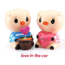 Fashion 1 Pair Car Ornaments Couple Dolls Car Decoration Interior Accessories US(China)