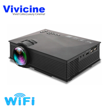 Vivicine UC40+ UC46+ Portable Mini LED Projector Optional WIFI Wireless Miracast DLNA Airplay Home Video Game Proyector Beamer
