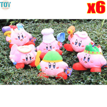 New 6PCS Super Mario STAR Kirby Keychain Popopo Key Rings 13-20cm Plush Doll Lovely Kids Gift