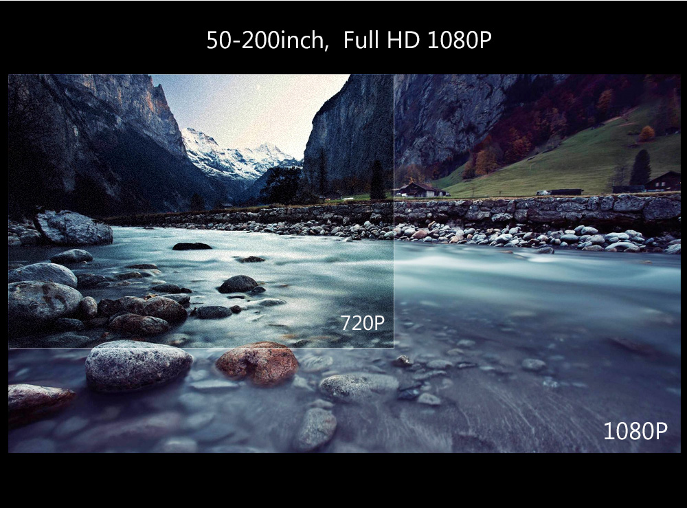 ThundeaL Full HD Projector T26K Native 1080P 5500 Lumens Video LED LCD Home Cinema Theater HDMI VGA USB TV 3D Option T26 Beamer 12
