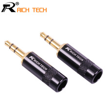 3pcs Jack 3.5 3 poles 3.5mm Audio Gold-Plated headphone plug 3.5 RCA Connectors jack Connector plug jack Stereo Headset(China)