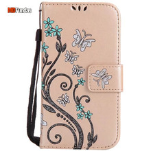 MDFUNDAS High Quality Lanyard PU Leather Case For Samsung Galaxy S4 Mini Flip Stand Phone Cover For Galaxy S4 Mini