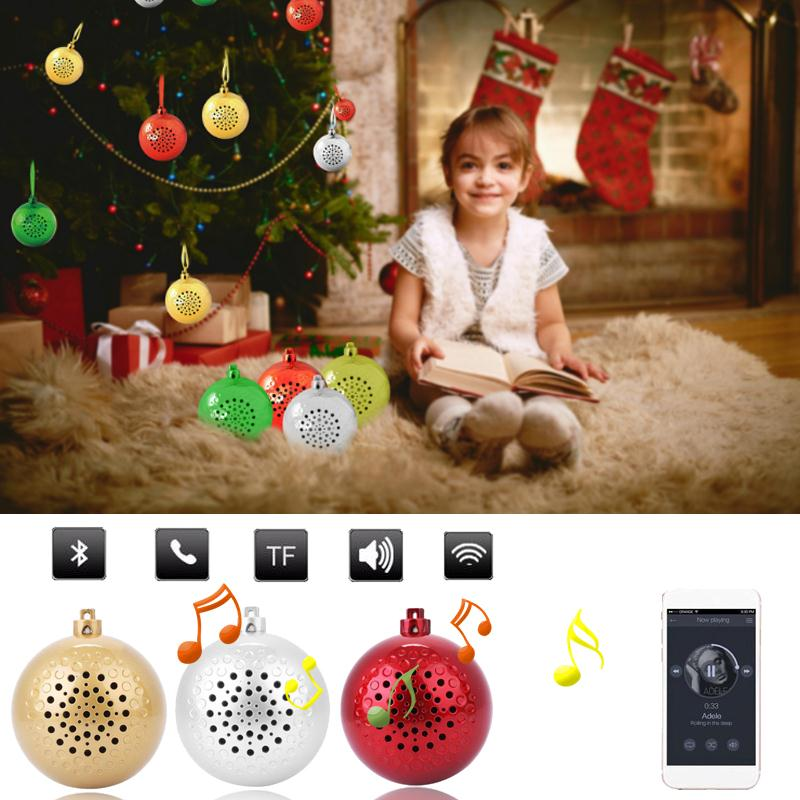 MVPower Christmas Ball Bluetooth Speaker Sound Audio Holiday Festival Tree Ornament Gift Portable Music New Wireless Speakers