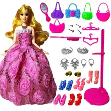 New Fashion Doll Party Wedding Dress Barbie Dolls New Style Moveable Joint Body Plastic Classic Toys Best Gift for Girls Friends(China)