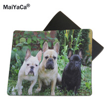 MaiYaCa French Bulldogs Rubber Soft Gaming Mouse Games Black Mouse pad 18*22cm and 25*29cm(China)