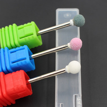 1 Pcs Professional Spherical Ceramic Stone Burr Nail Art Drill Bits Manicure Electric Drill Accessory Pedicure Tools