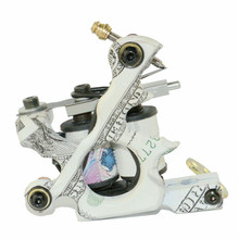 New Arrival US Dollar Design Tattoo Machine Kit 10 Wrap Coils Handmade Tattoo Machine For Liner and Shader Free Shipping TM-767(China)