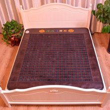 2016 Tourmaline Massage Mattress with Ochre Mineral Infared Therapy, Electric Heated Jade Mattress with PU Leather Free Shipping(China)