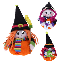 Halloween Pumpkin Doll Toy Soft Velvet Stuffed Toy Cute Puppet Home Party Decoration Ornaments Kids Children Christmas Toy Gift(China)