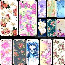 Multicolor Top Popular Flowers Silicon Cell Phone Shell Cover For Apple iPhone 5C iPhone5C Case Cases 2017 Newest Best Choose