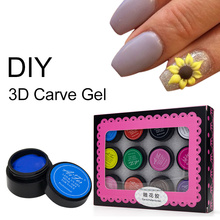 Saviland DIY Painting Gel 3D Fingernails Nail Art Paint Drawn 12 Colors Acrylic Creative Stylish Pattern Manicure Set(China)