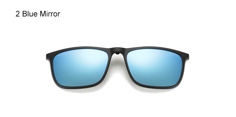 Ralferty 5 In 1 Ultra-Light TR90 Magnetic Polarized Clip On Sunglasses Men Women Square Sunglases Night Vision Glasses A8804 12