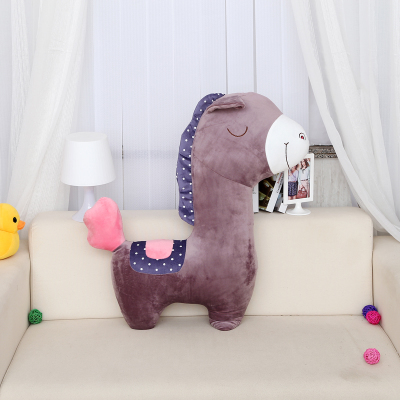 stuffed animal 100cm plush purple horse toy horse doll throw pillow gift w1281<br>