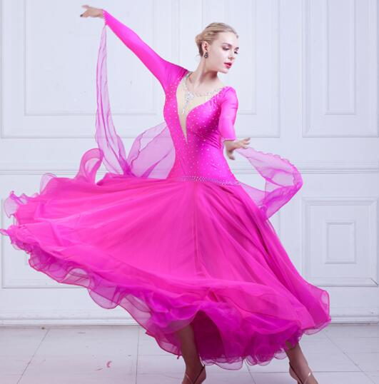 2017 NEW Latin Salsa Tango Cha cha Waltz Ballroom Flamenco Dance Dress MY750