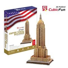 Candice guo! 3D puzzle toy CubicFun 3D paper model jigsaw game delicate version empire state building