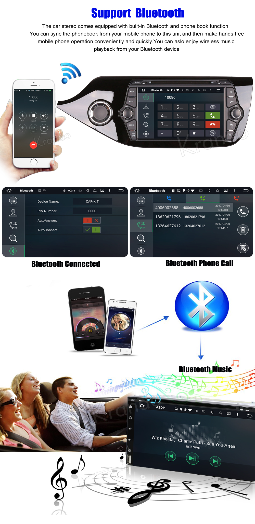 Krando kia ceed Android car radio gps navigation multimedia system (3)