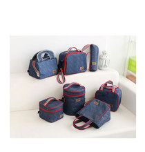 free shipping foodgrade eco-friendly blue Thermal Insulated cooler Bag Hand Carry bottle Cooler set Insulation Picnic totes(China)