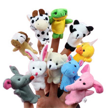 10pcs/set Cartoon Animal Finger Puppet Baby Plush Toys for Children Favor Gift Family Dolls Kids Finger Toy(China)