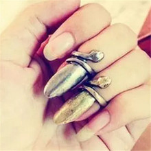 FD3001 new  Retro Vintage Gothic Snake Fingernail Ring Personality Jewelry X'mas Gift