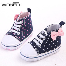 WONBO Toddler Baby Girls Shoes Floral Leopard Sequin Infant Soft Sole First Walker Cotton Shoes(China)