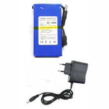 EU Plug DC12680 DC 12V 6800mAh Portable Li-ion Rechargeable Polymer Power Battery Pack with AC Wall Charger(China)