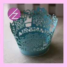 Tiffany blue 50pc Laser Cut  Little Vine Filigree Laser Cut Lace Cupcake Wrapper Wraps Liner Wedding Birthday Party Cake Decor