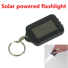 AIFENG Mini flashlight solar containing battery charged mini 3 led keychain flashlight key chain lighting night light hiking