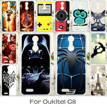 TAOYUNXI Soft TPU Case For Oukitel C8 Case Anti_knock Cover For Oukitel C8 Cases Silicone DIY Painted Colorful Bag Covers(China)
