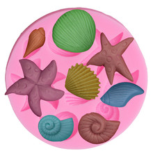 Variety of marine life shells cooking tool DIY cake mold baking tools mold Christmas decoration silicone mold KO892260