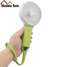 Bubble Rain A64 Mini Usb Hand Fan Ventilator Cooling Portable Fan Led Light Air Conditioner Cooler Adjustable Speed Heat Fans
