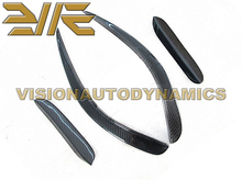 12-14 W204 C63 4dr / Coupe (Fits only BK Front Bumper) Carbon Fiber Surface Front Bumper Side Add On Canards Spoiler(China)