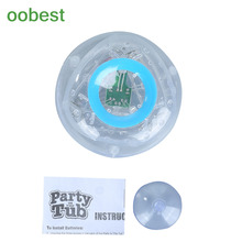 oobest Interesting 3 Color Bath LED Light Kid Funny Play Party Lamp Gift For Children Bath Time Fun LED Light Up Toys(China)