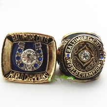 2pcs/set factory wholesale price 1958 1970 Baltimore Colts championship rings replica drop shipping(China)