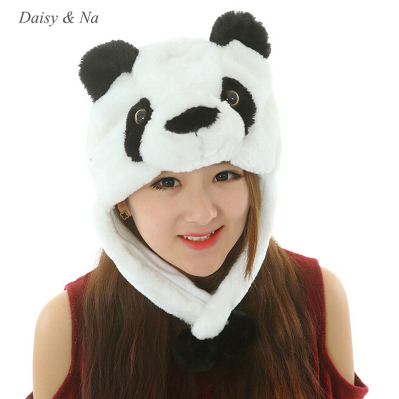 Daisy &amp; Na 21-25 Costume Mask Soft Cape Cartoon Earmuff Animal Hat Warm Winter Plush Beanie 041Îäåæäà è àêñåññóàðû<br><br><br>Aliexpress