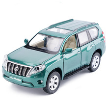 High Simulation 1:32 Toyota Prado LC100 LC200 Off-Road SUV Alloy Car Model With Pull Back Flashing For Baby Toy Birthday Gifts(China)