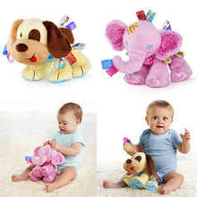 2017 New Musical Elephant Puppy Dog Plush Doll Kids Soft Toy Animal Stuffed Plushie baby Gift