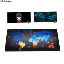 Hottest Unique Map Print Rubber Non-slip Computer Desk Keyboard Mouse Mat Viviration High Quality Locking Edge Gaming Mousepad
