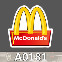 Bevle A0181 McDonald's LOGO Waterproof Sticker for Cars Cool Laptop Luggage Skateboard Graffiti Notebook Stickers