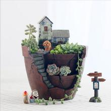 Creative Flower Pot stand Planter Vertical Garden Pot Planter Succoulent Plant Bonsai Animal Plant Pot Decorative Seeding Pot