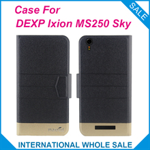 5 Colors Hot! DEXP Ixion MS250 Sky Case Fashion Business Magnetic clasp Flip Leather Exclusive Case For DEXP Ixion MS250 Sky