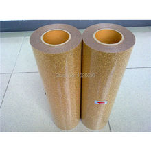 made in korea use for heat transfer film glitter material on garment- CDG-23 Light gold color glitter(China)