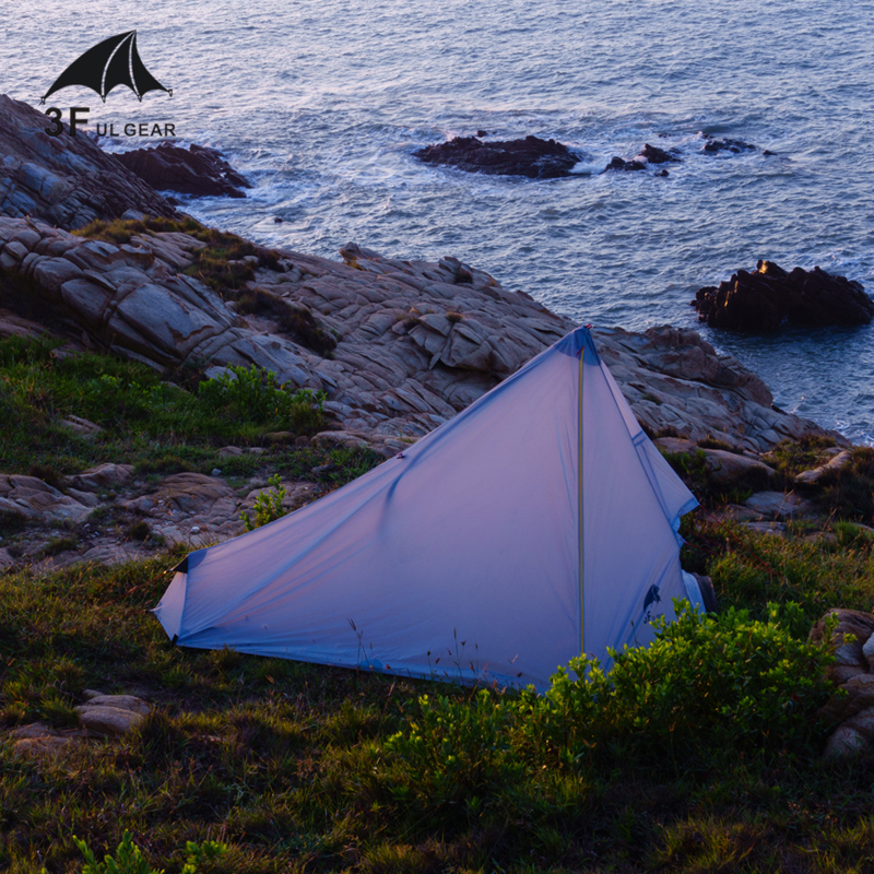 3F UL GEAR Oudoor Ultralight Camping Tent 1 Person Professional 15D Nylon Silicone Rodless Tent Lightweight Camping Gear2