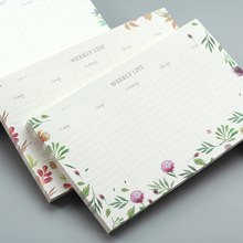 Small Fresh Cute Flower Planning Notebook Schedule Weekly Planner Agenda Note Book Memo Pad