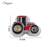 20pcs/lot Who0lesale DIY Charms Farm Locomotive Floating Locket Charms Enamel Car Charms for Floating Locket Charms(China)