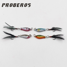 Big discounts Cheap 1PCS Artificial 3D eyes Hard Crank Sharp hooks hidden in the temptation feathers fish lure baits Tackle tool(China)