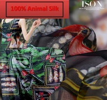 100% pure mulberry soft Roman holiday - painted silk chiffon scarf dressmaking Scarves Skirt materials Silk Clothes yard H261-(China)