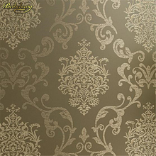 beibehang papel de parede 3d wallpaper for walls Europe Glitter Vintage Damask Wallpaper roll Covering non-woven wall papers