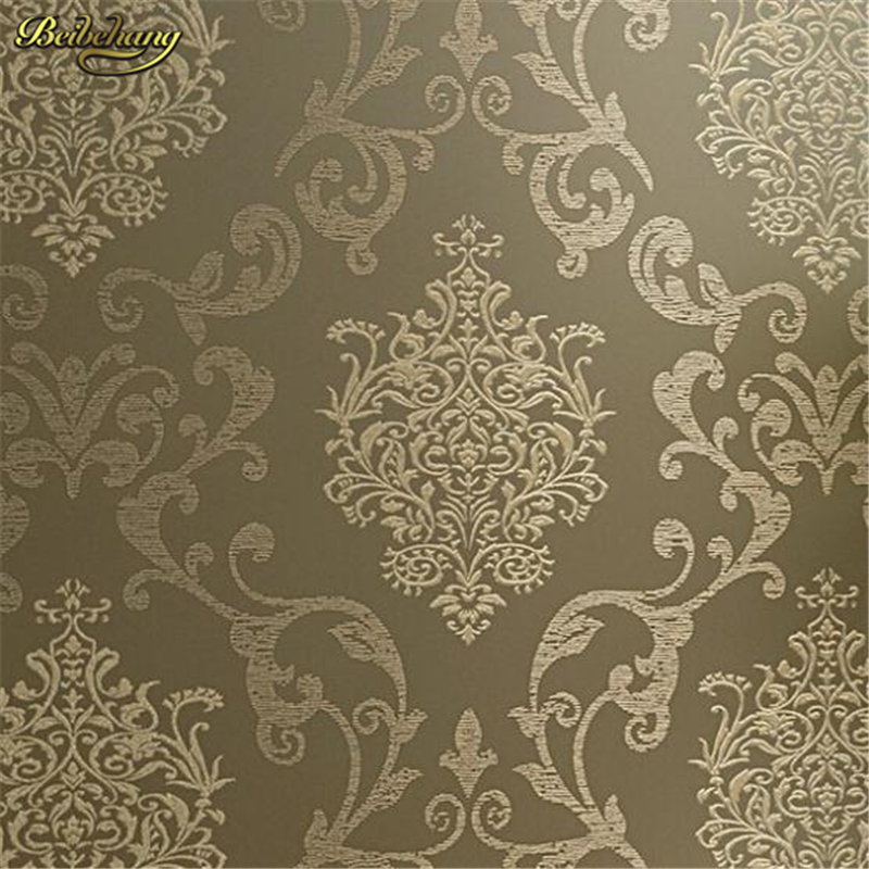 beibehang papel de parede 3d wallpaper for walls Europe Glitter Vintage Damask Wallpaper roll Covering non-woven wall papers <br>
