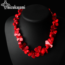48cm Women's Fashion Natural Jewellery  Red Coral Necklaces Collar Necklaces For Women Party