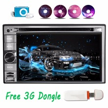 3G 2Din Android 4.4 Car DVD CD GPS Navigation Stereo Radio Player in dash Quad core 2din With Bluebooth WIFI +Free 3G dongle
